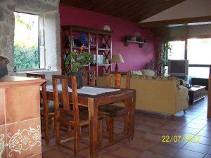 Salón con vistas a la Ría de Vigo