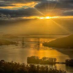 puesta de sol Puente de Rande